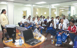 Students listen to cyber secucrity lecture